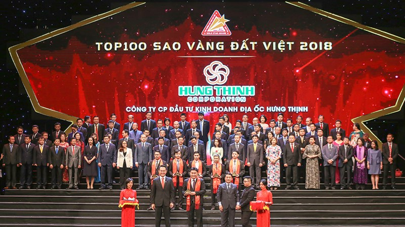 Hung Thinh Corp được vinh danh Top 100 Sao Vàng Đất Việt 2018